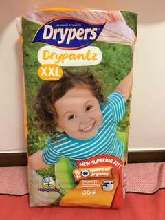 Drypers Drypantz XXL (36pcs new pack) and (24 pcs opened pack)