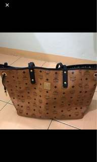 MCM reversible shopper tote bag