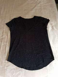 Lululemon Black Granite Love Crew V-neck Tee US Size 8