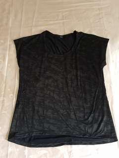 Lululemon Black Camo Miles Ahead Short Sleeve US size 8