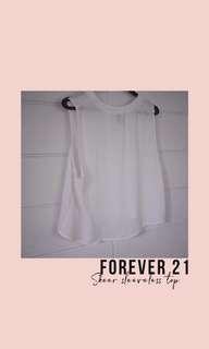 Forever 21 Sheer Sleeveless Top