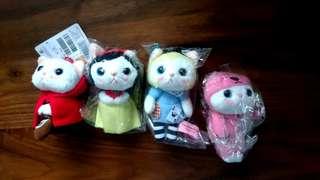Choo Choo Cat 貓 白雪公主 愛麗斯 小紅帽 血腥熊 造型 掛飾公仔