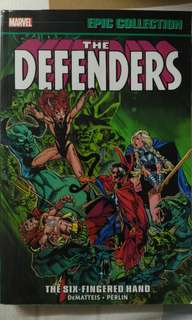 Marvel book ( the defenders )