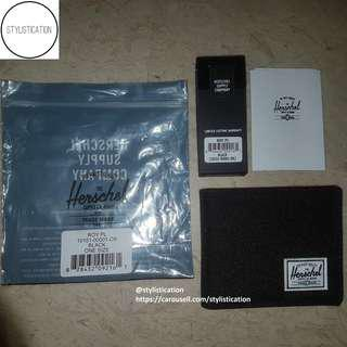 ✧AUTHENTIC✧FREE POSTAGE✧ Herschel Roy Coin Wallet (Black)✧