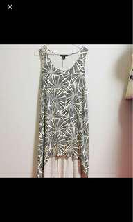 F21 Asymmetrical High Low Maxi Dress