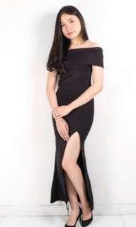 jacqualine slit dress