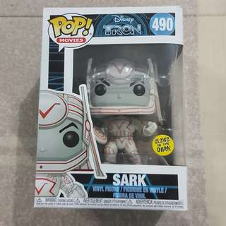 Legit Brand New With Box Funko Pop Movies Disney Tron Sark Toy Figure Glows In The Dark