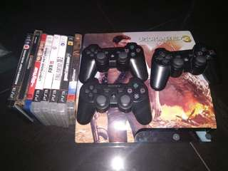 Full set original ps3 slim uncharted 3 editition