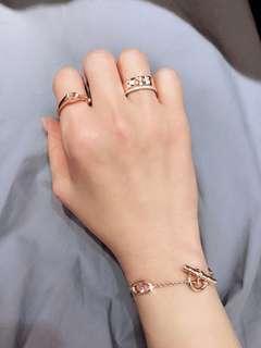 💥折骨價✨最形Hermes Gallop 馬鑽石戒指