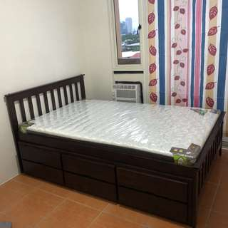 BRAND NEW‼️Queen Size Bed with Pull-Out Bed
