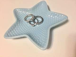 少女粉藍海星飾物碟