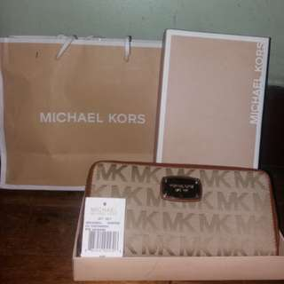 💯Original michael kors mk jet set travel wallet wristlet
