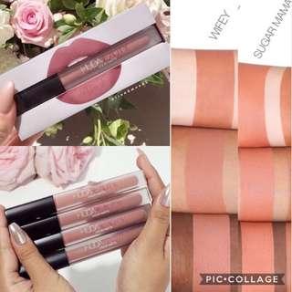 SALE💋HudaBeauty Nude Love Collection Liquid Matte Lipsticks Sugar Mama Wifey ❗️FULL SIZED❗️