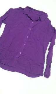 kemeja rayon purple