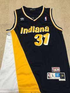 Reggie Miller NBA jersey Indiana Adidas L
