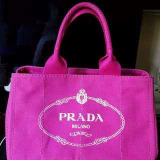 Priced to sell! Prada tote in Fuschia pink