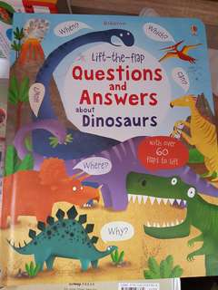 Usborne lift the flap questions and answers abour dinosaurs