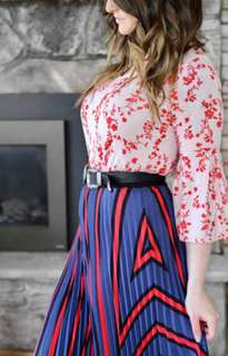H+M pleated skirt