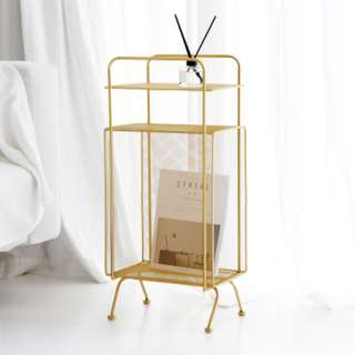 🚚 Portable Chic Magazine & Bookshelf (Gold/Rosegold/Black)