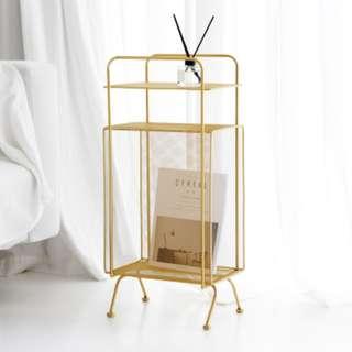 🚚 Portable Chic Magazine & Bookshelf (Gold/Rosegold/Black)