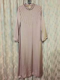 Peach Glam Dress/Gamis