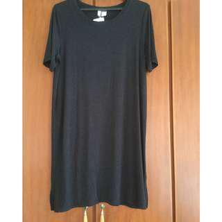 H&M Grey Long Tee/Dress
