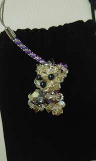 Bear crystal key chain