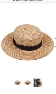 Lack of color boater hat M 57cm