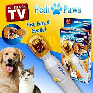 {PEDI PAWS}電動寵物磨腳修腳器 狗貓指甲剪刀電動砂輪磨甲器附二顆電池