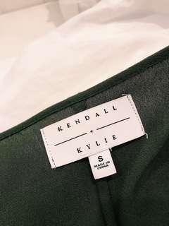 Kendall & Kylie olive green dress