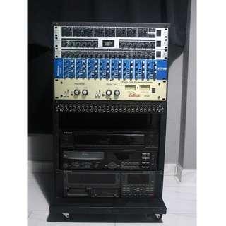 Audio Gear Units + Portable Metal Rack (Behringer, Alesis, PreSonus, Bellari, Neutrik, Scandyna) PRICEDROP