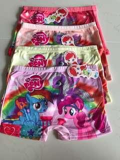 Girls Panties (boxer type) PONY design L SIZE