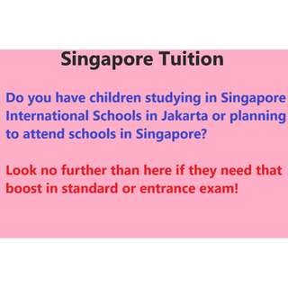 Singapore Graduate Offering Tuition in Jakarta