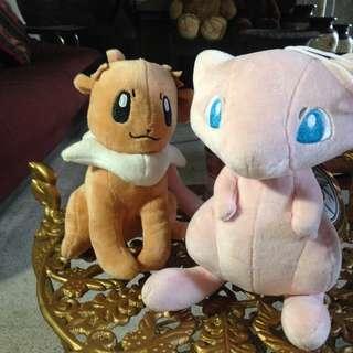 Pokemon Stuffed Toy (Mew and Eevee)