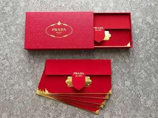 Box+10pcs Prada 2018 Luxurious red packet / ang pow pao