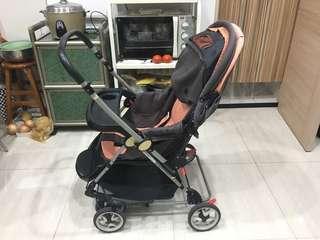 【EMC】 全罩式三段雙向豪華推車(搖床、搖椅、推車)-棕色