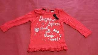 Red longsleeves shirt