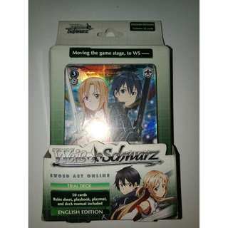 Weiss Schwarz ENGLISH Trial Deck Sword Art Online