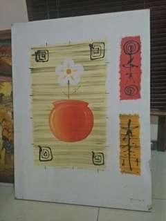Lukisan bunga 80*60