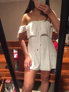 White Off-shoulder Playsuit