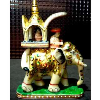 Royal Marble Elephant with Carriage