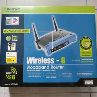 🚚 ** Used - Linksys Wireless G WRT54G Router **