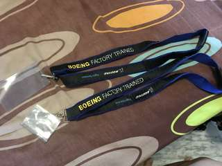 Boeing Factory Trained lanyard