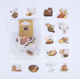 Sticker Pack: Food with Rabbit