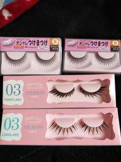 Flase eyelashes set of 3
