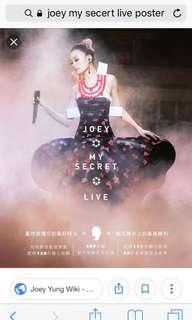 Joey Yung 容祖兒my secret live poster