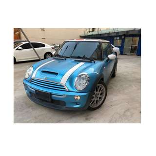 2005年 Mini   Cooper   水藍 ✅0頭款 ✅免保人✅低利率✅低月付 FB搜尋:阿源 嚴選二手車/中古車買賣