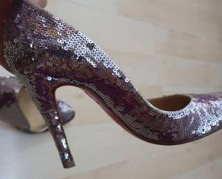 Authentic Christian Louboutin Sequin Heels