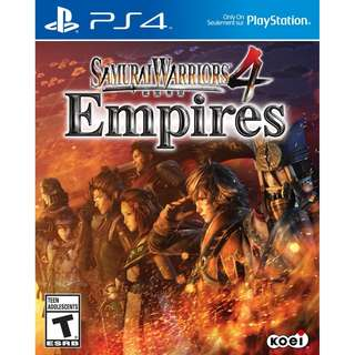 [NEW NOT USED] PS4 Samurai Warriors 4 Empires ENG SONY Action Koei Tecmo Games