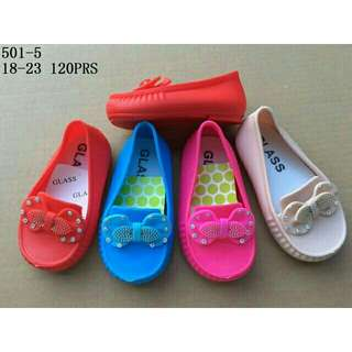 Jelly shoes anak pita permata